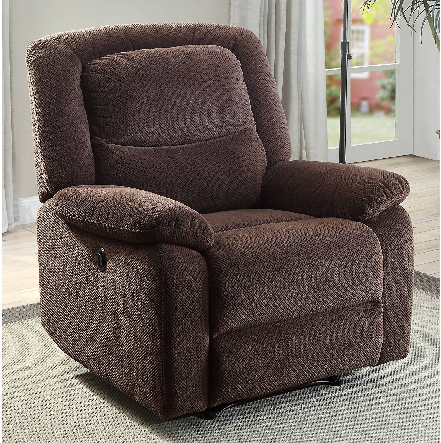 Serta Power Recliner, Brown 37.75 W x 38 D x 41 H
