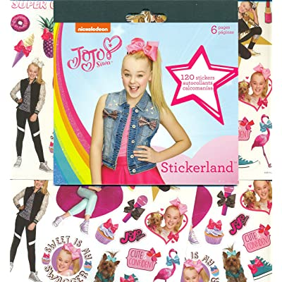 JoJo Siwa Stickers Party Favors - Bundle of 12 Sheets 240+ Stickers: Toys & Games