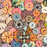 Juvale Wood Buttons for Crafts (2 Hole, 450 Pack)