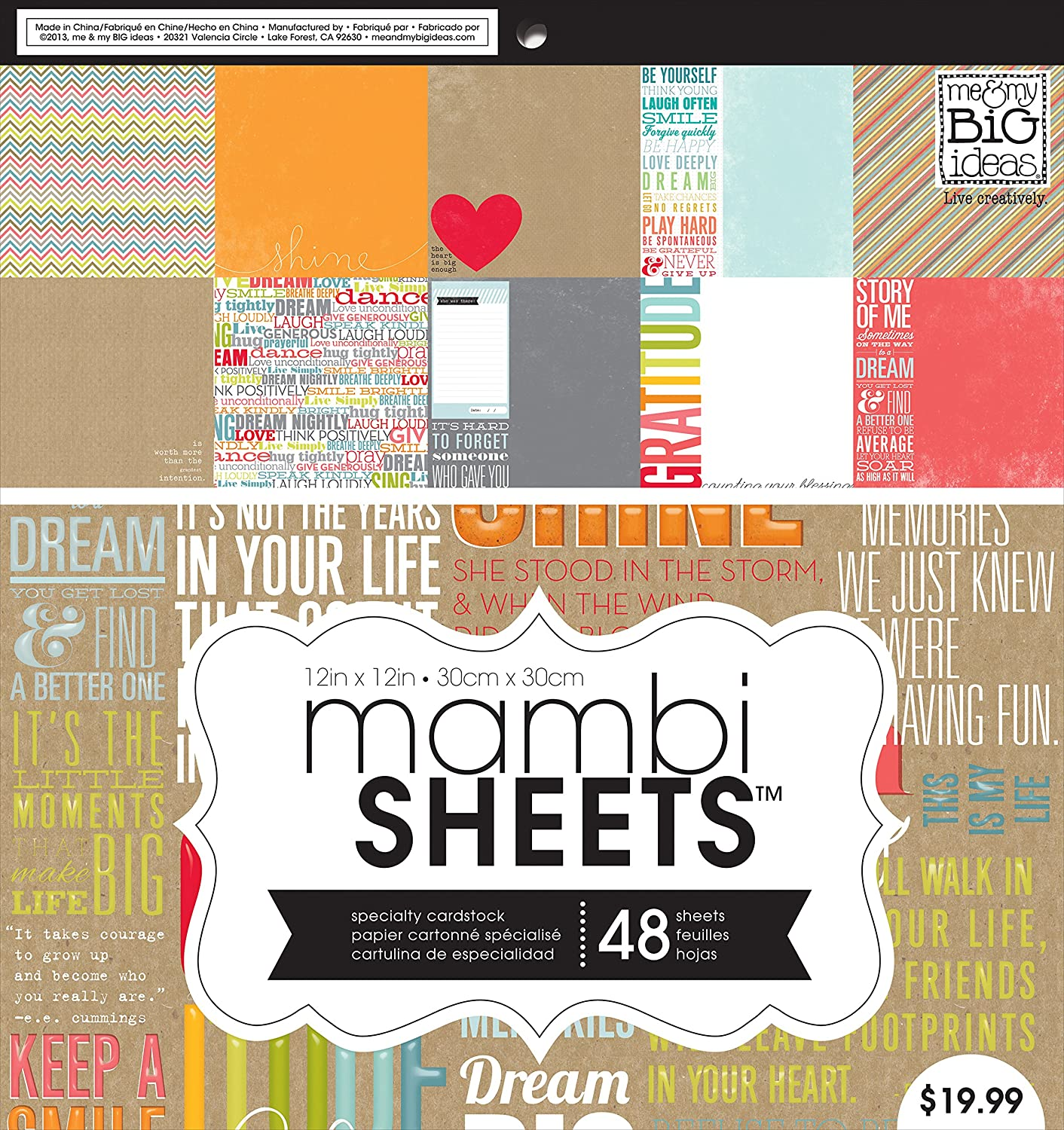 Amazon Me My Big Ideas Paper Pad Inspiration Quotes 12 Inch