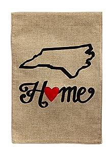 Evergreen Enterprises, Inc State of My Heart 2-Sided Garden Flag US State: North Carolina