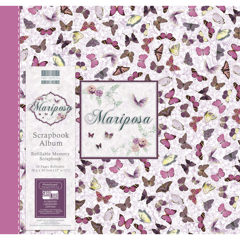 First Edition Mariposa - Butterflies Scrapbook Album 12''x12'' (Snap Load)