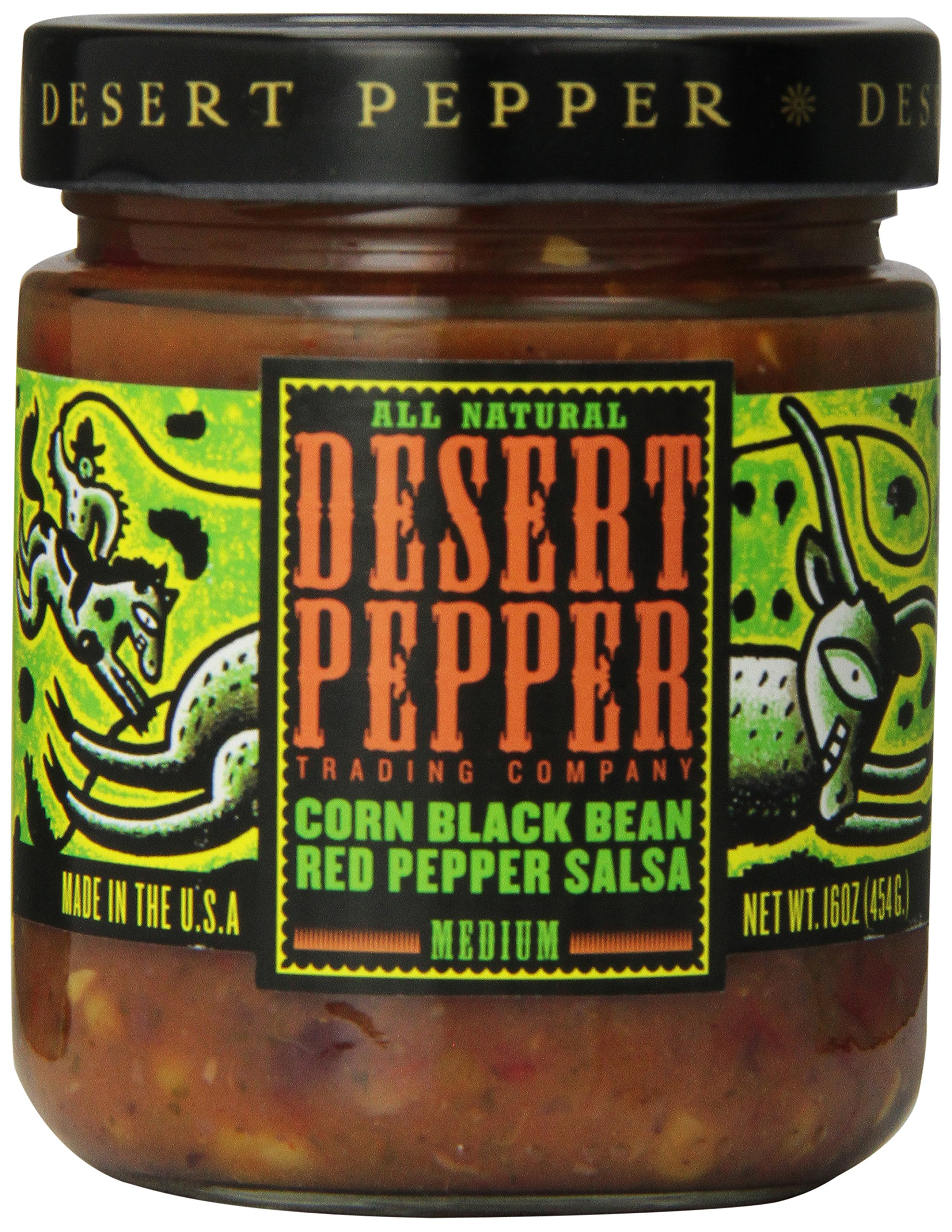 Desert Pepper, Black Bean, Roasted Pepper, and Corn Salsa, 16 oz