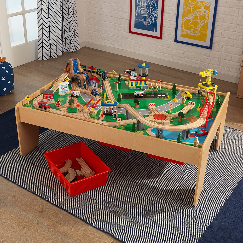 Amazon KidKraft Waterfall Mountain Train Set and Table Toys
