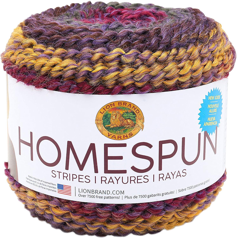 Amazon Lion Brand Yarn 575 603 Homespun New Look Yarn Aubergine