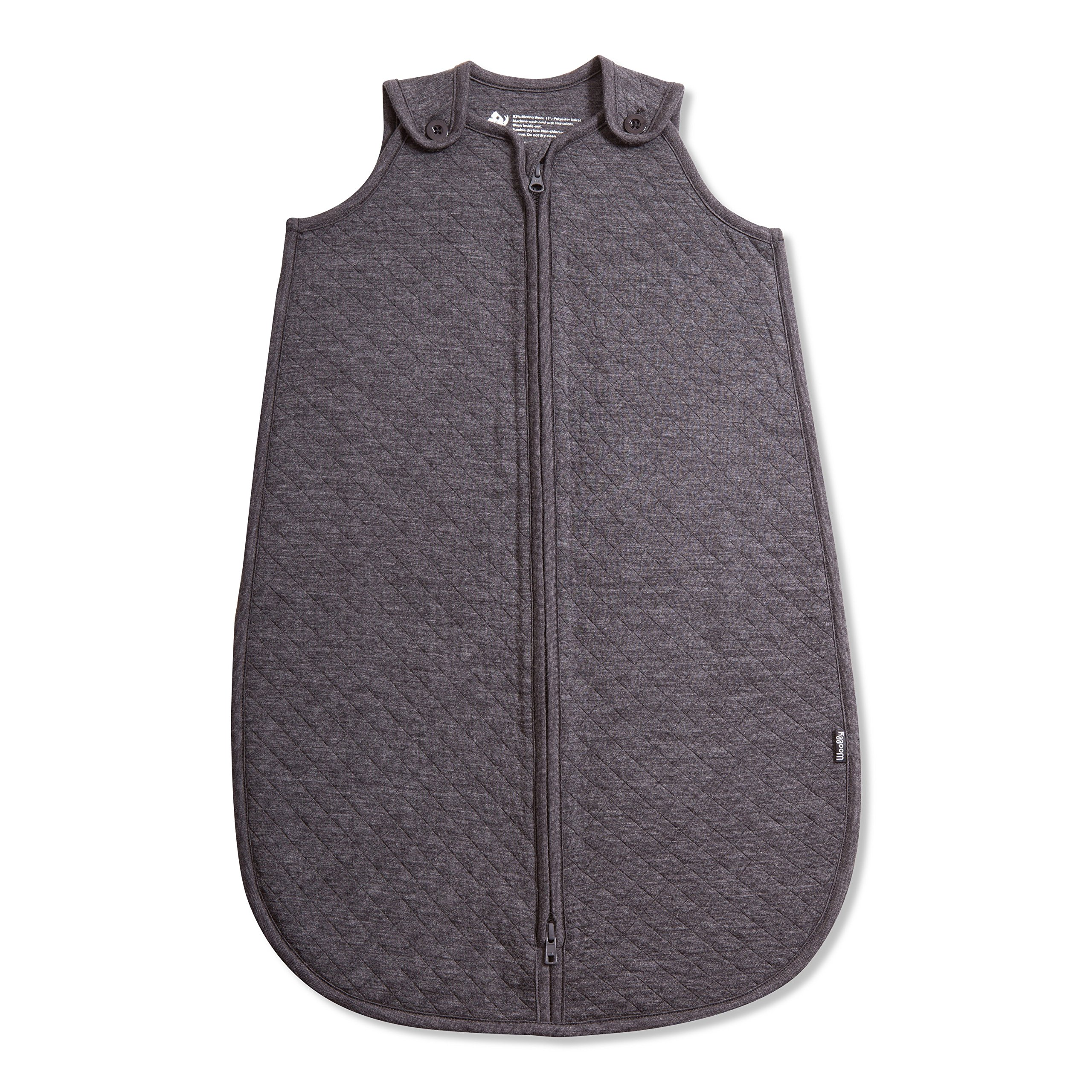 Woolly Clothing Co Merino Wool Quilted Infant Sleep Sack (310 GSM) Charcoal 6 to 18 Months