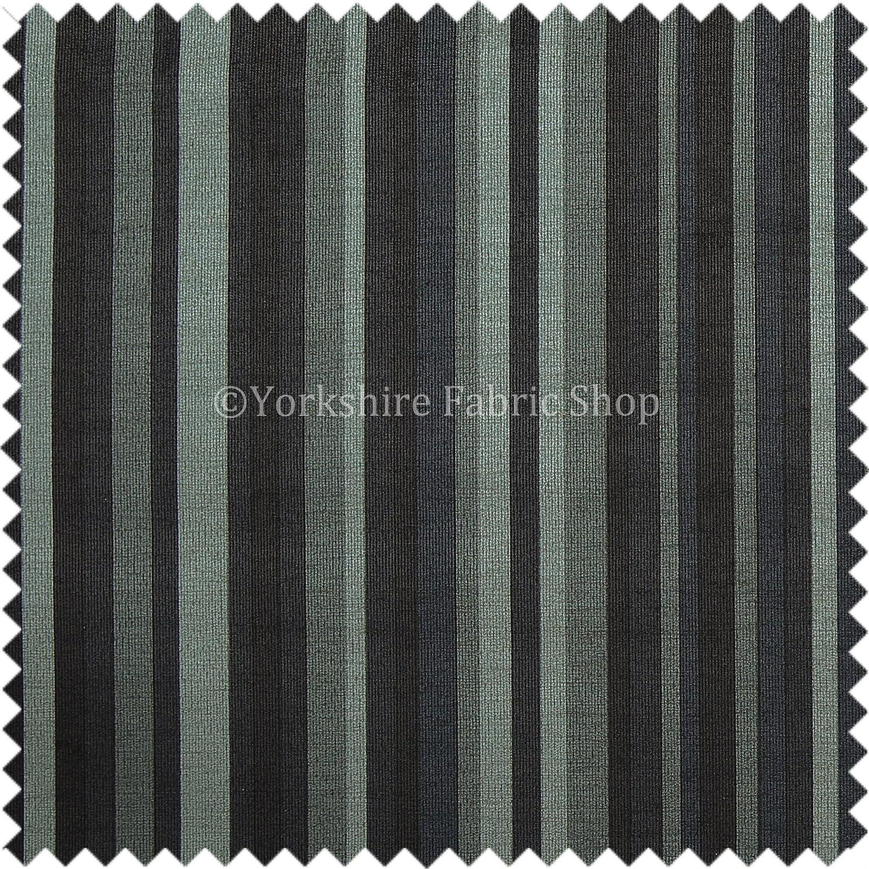 Designer Vertical Striped Pattern Black Soft Chenille Velvet Upholstery Fabric