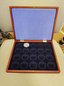 Leuchtturm 321628 Estuche para Monedas VOLTERRA UNO de Luxe, para 20 Monedas en cápsulas con un Ø de 39 mm: Amazon.es: Juguetes y juegos