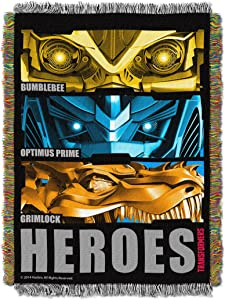 "Transformers 4: Age of Extinction, ""Hero Slash"" Woven Tapestry Throw Blanket, 48"" x 60"""