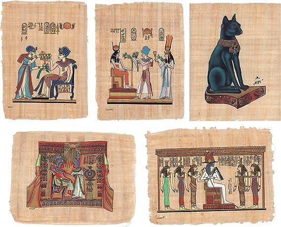 The Cairo Collective Pintura de papiro Egipcio – 5 Unidades – King ...