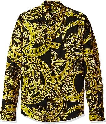 Versace Jeans Hombre EB1GPB6S0-ES0036-E899 Camisa con botones ...