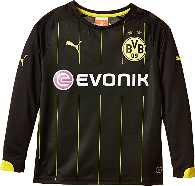 Puma BVB - Camiseta de fútbol para niño (Manga Larga, del Equipo ...