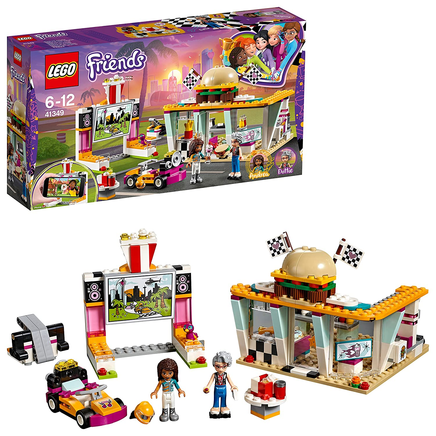 LEGO 41349 Friends Heartlake Drifting Diner Playset, Andrea and ...