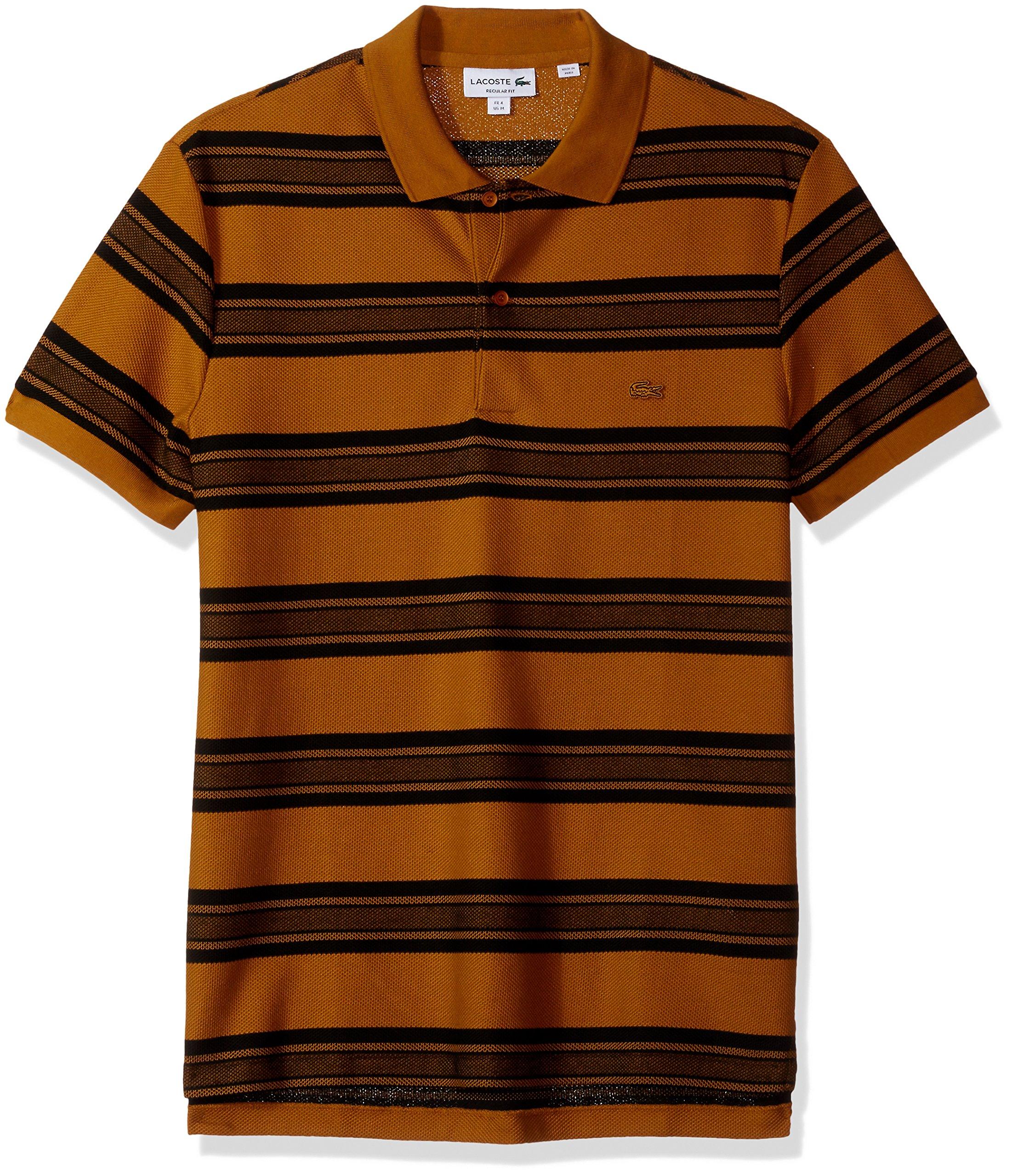 Lacoste Mens Short Sleeve Slim Fit Heritage France Stripe Polo