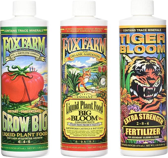 Fox Farm Liquid Nutrient Trio Soil Formula-Best For Versatility