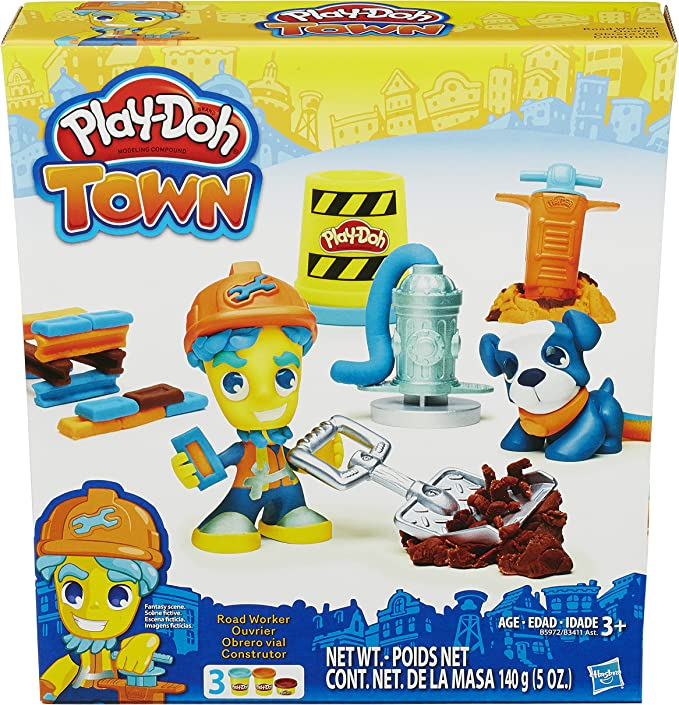 Play-Doh Town Road Worker and Pup Hasbro B5972AS0