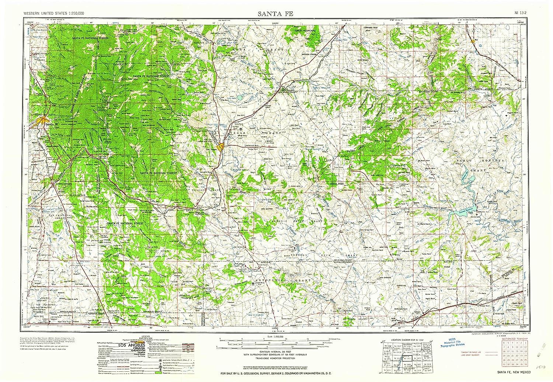 Amazon.com : YellowMaps Santa Fe NM topo map, 1:250000 Scale ...
