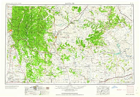 Amazon.com : YellowMaps Santa Fe NM topo map, 1:250000 Scale ...