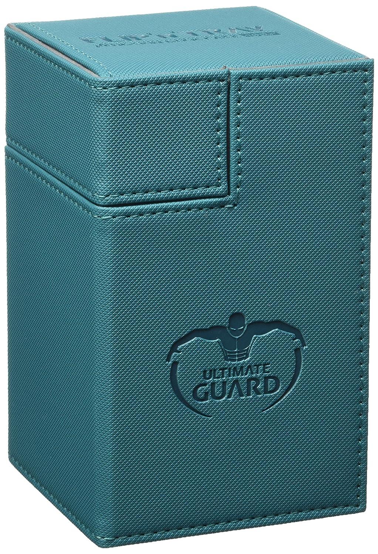 Ultimate Guard Flip/´n/´Tray Deck Case 100 Caja de Cartas Tama/ño Est/ándar XenoSkin Gasolina Azul