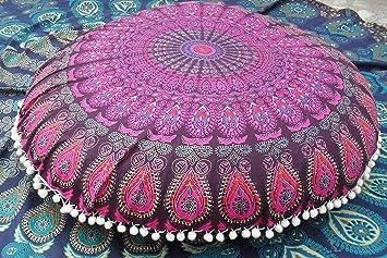 Amazon.com: Round Mandala Floor Cushions, Decorative Throw ...