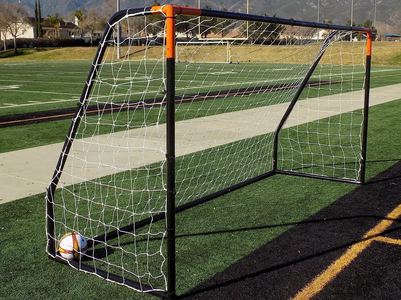 Vallertaプレミア12 x 6 ft。Ayso Youth regulation size soccer goal w /全天候型4 mm Net。50 mm直径ブラックパウダーコーティング/耐腐食性フレーム。12 x 6足Practice Aid ( 1net ) 1年保証 ブラック/オレンジ