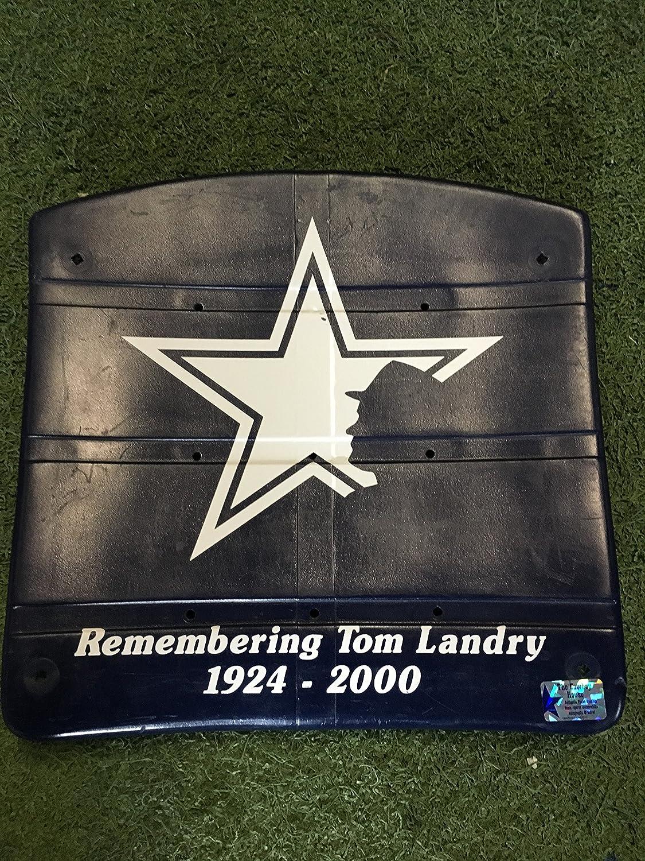 Coach Tom Landry 'Remember Tom Landry 1924-2000' AUTHENTIC Texas Stadium Seat Bottom with Vinyl Graphics Dallas Cowboys