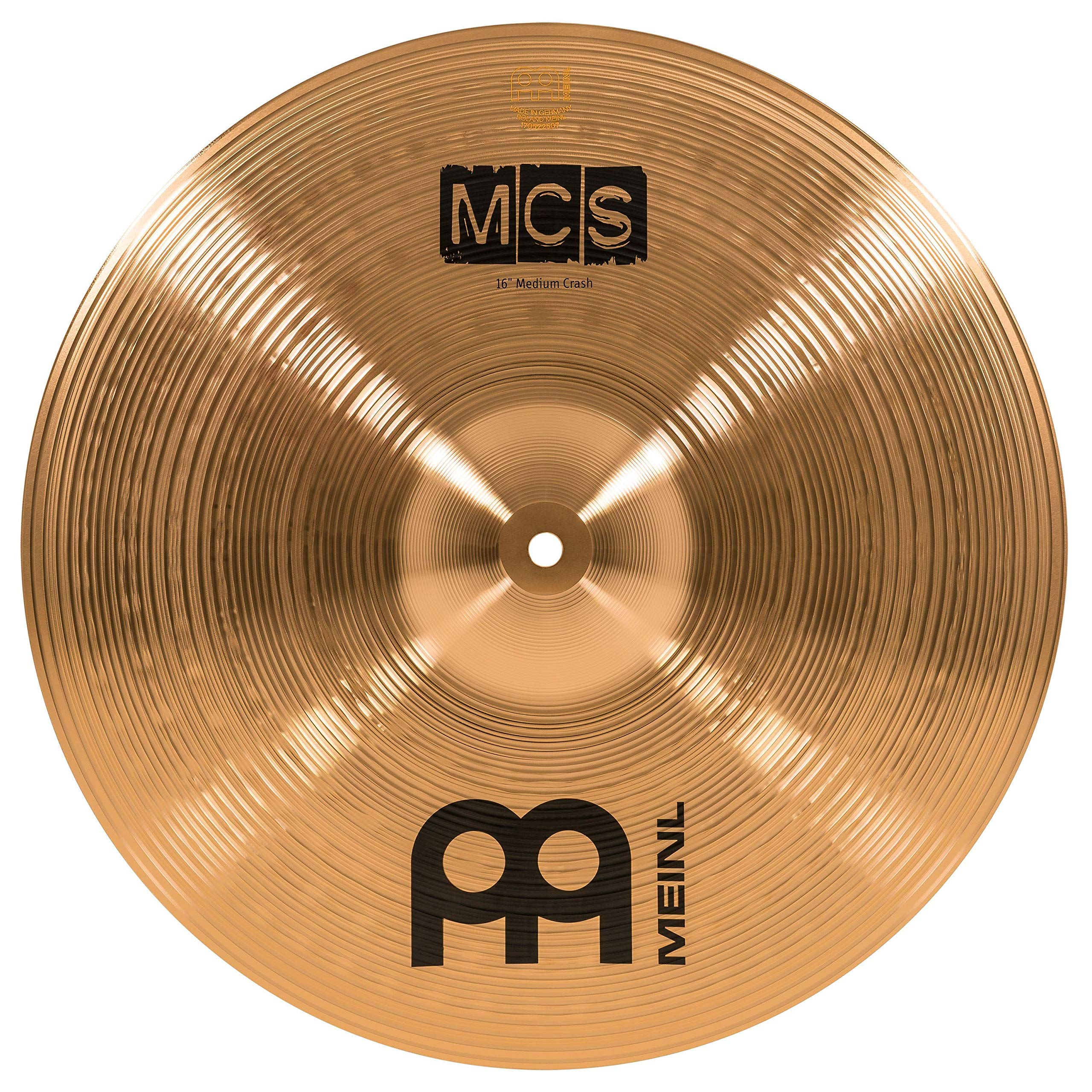 Meinl 16'' Crash Cymbal - MCS Traditional Finish Bronze for Drum Set, Made In Germany, 2-YEAR WARRANTY (MCS16MC)