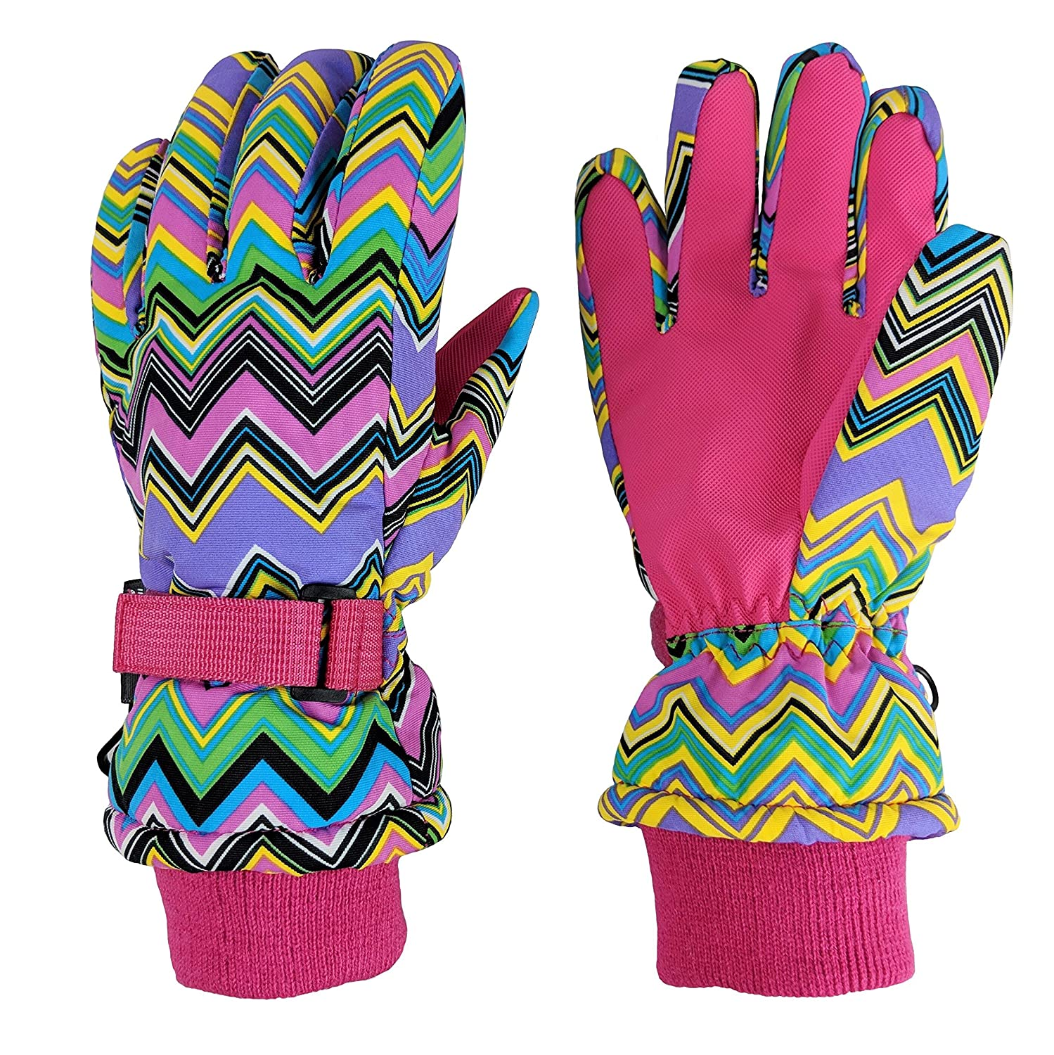 N'Ice Caps Girls Ombre Shaded Waterproof Thinsulate Winter Snow Ski Gloves 4974-X