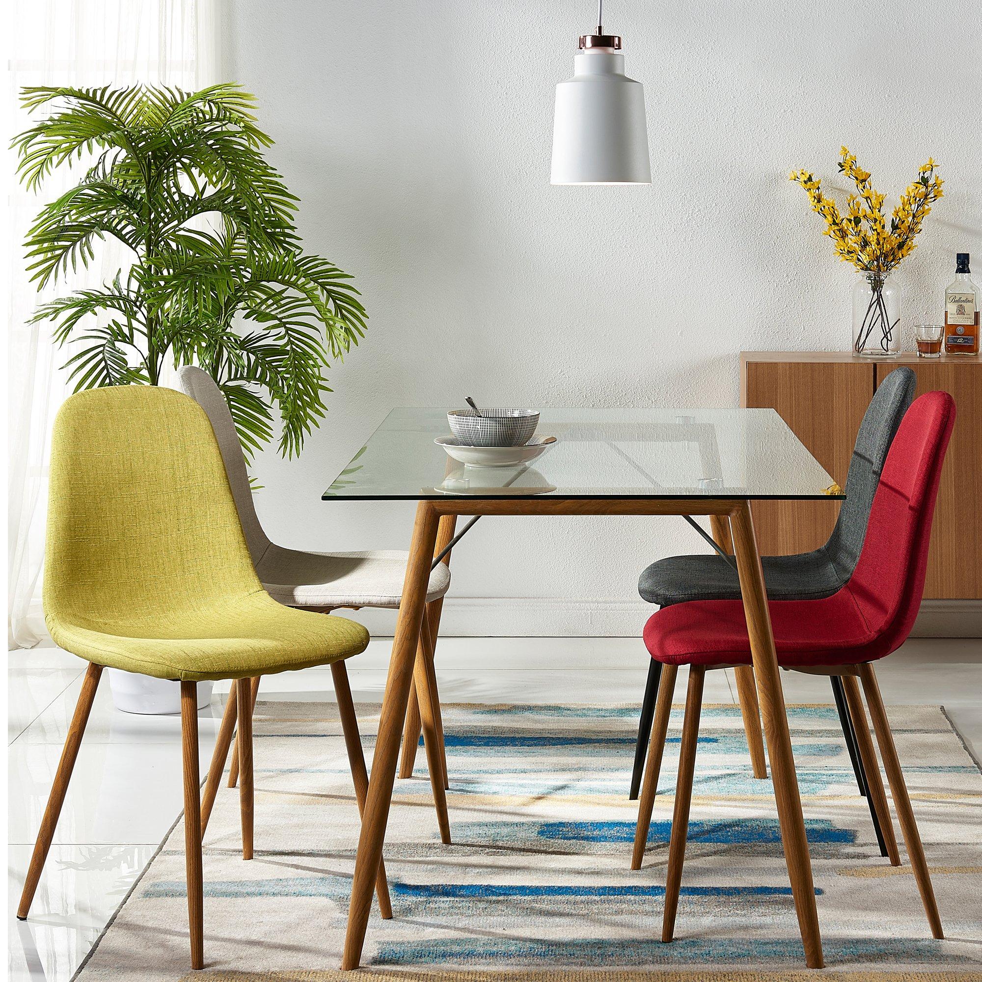 Versanora Minimalista Dining Tables, Clear by Versanora