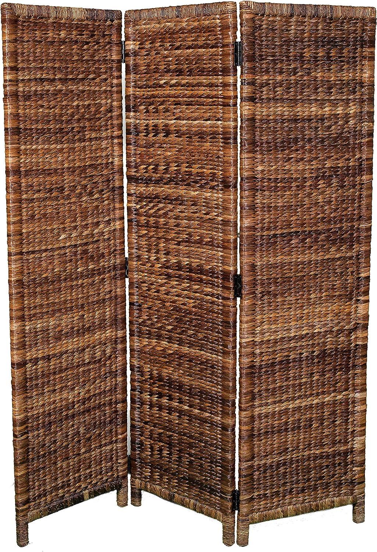Amazon Com Birdrock Home 3 Panel Seagrass Room Divider Folding Sections Partition Screen Handwoven Abaca Home Decor Furniture Decor