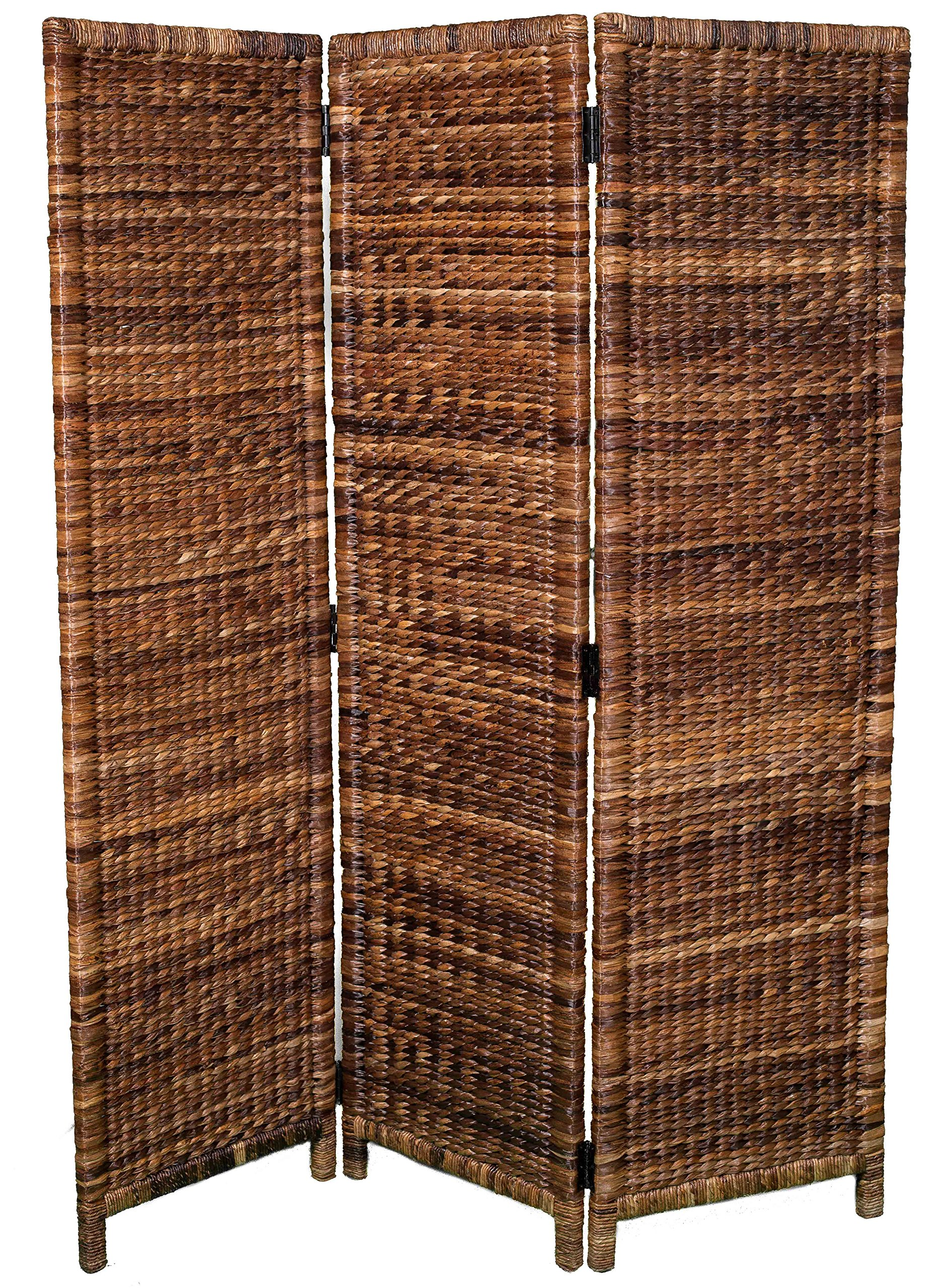 BIRDROCK HOME 3 Panel Seagrass Room Divider - Folding Sections - Partition Screen - Handwoven Abaca - Home Decor by BIRDROCK HOME