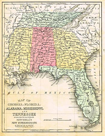 Florida Alabama Map.Amazon Com Barnes S Geography Georgia Florida Alabama