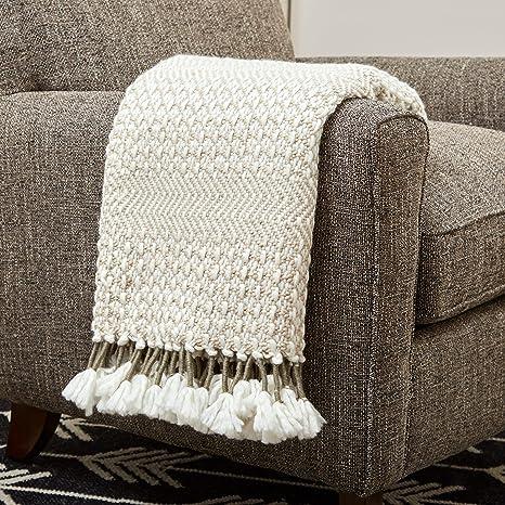 Rivet Modern Hand-Woven Fringe Throw Blanket