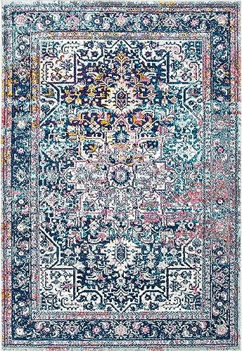 nuLOOM Raylene Persian Vintage Area Rug, 8 x 10 , Blue