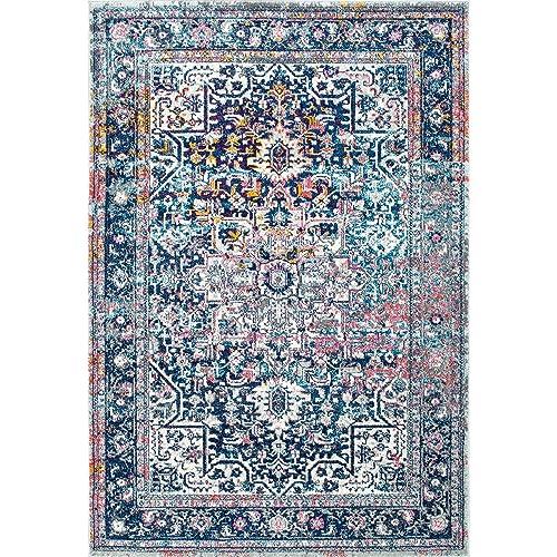 nuLOOM Raylene Persian Vintage Area Rug, 5 x 7 5 , Blue