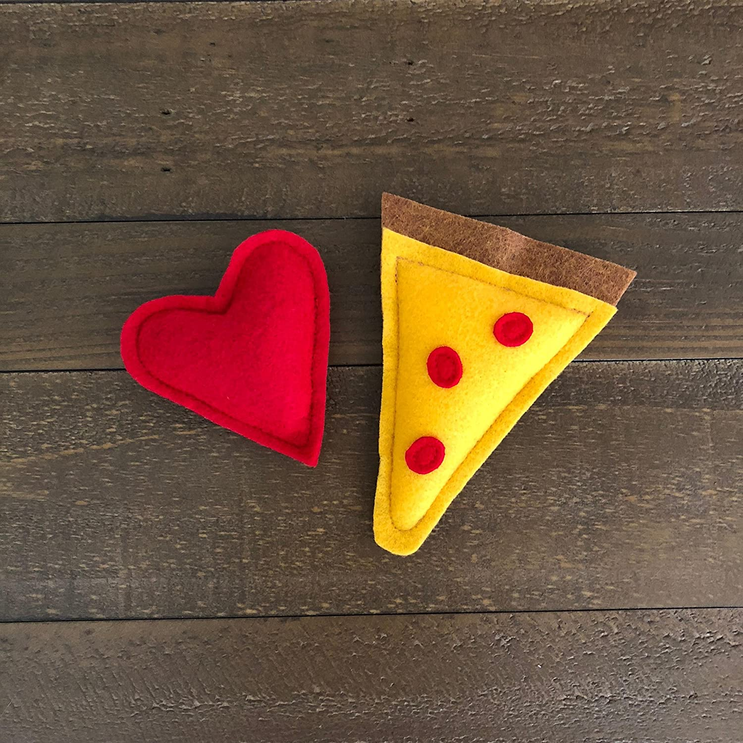Pizza Lover Organic Catnip Cat Toys - Pizza Slice and Heart Toys