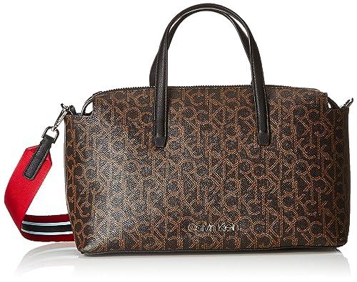 81b0792ac3 Calvin Klein Monogram Duffle - Borsa a mano Donna, Marrone (BROWN ...
