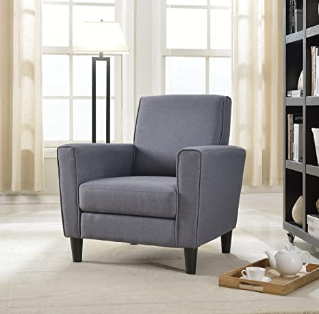 Superb Us Pride Furniture Contemporary Solid Colored Fabric Accent Chair Gray Andrewgaddart Wooden Chair Designs For Living Room Andrewgaddartcom