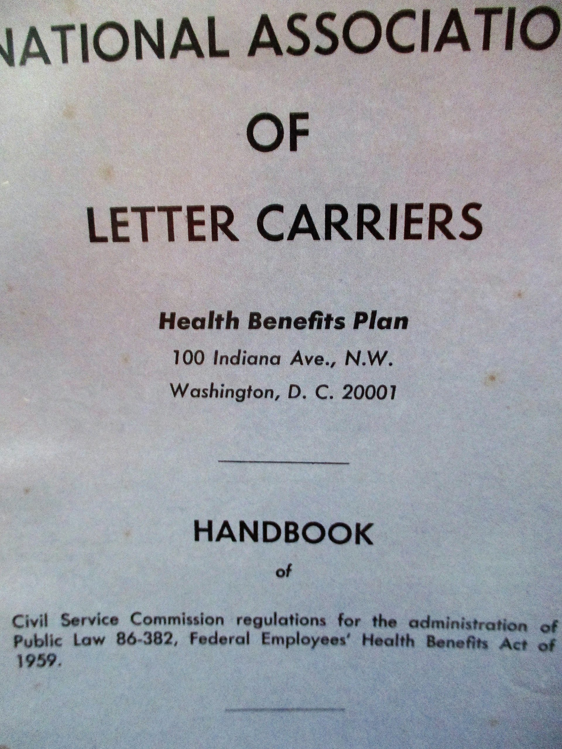 National Association of Letter Carriers Health Benefits Plan 1969