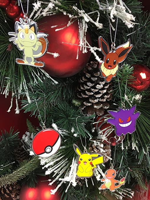 Pokemon Christmas.Nintendo Pokemon Christmas Ornaments
