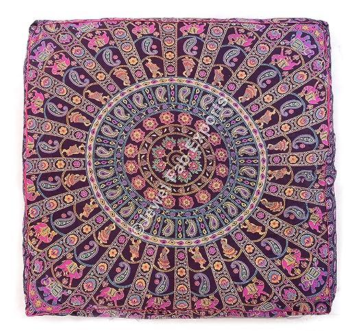 Indian Mandala de suelo al aire libre cama perro cama Euro ...