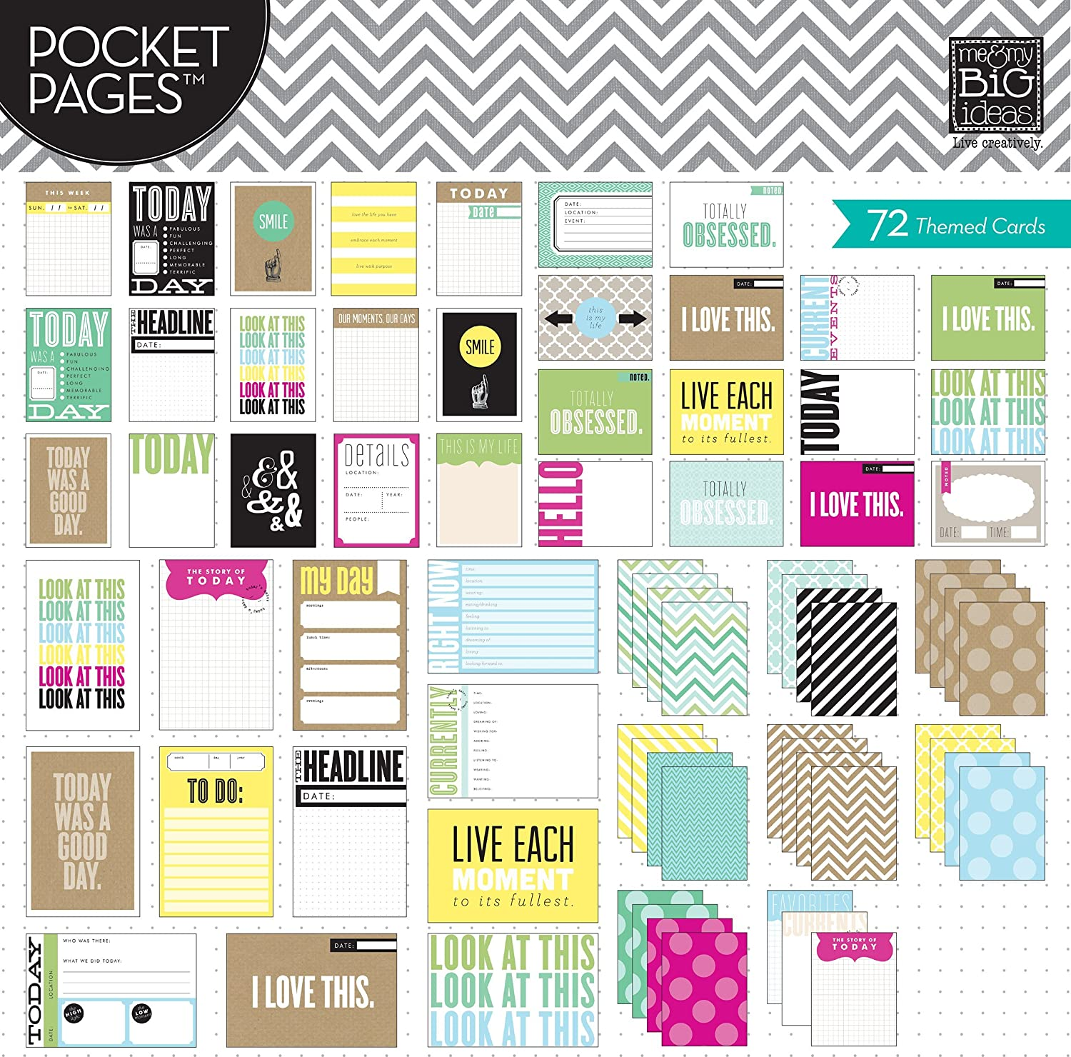 Today me /& my BIG ideas Pocket Pages Journaling Cards