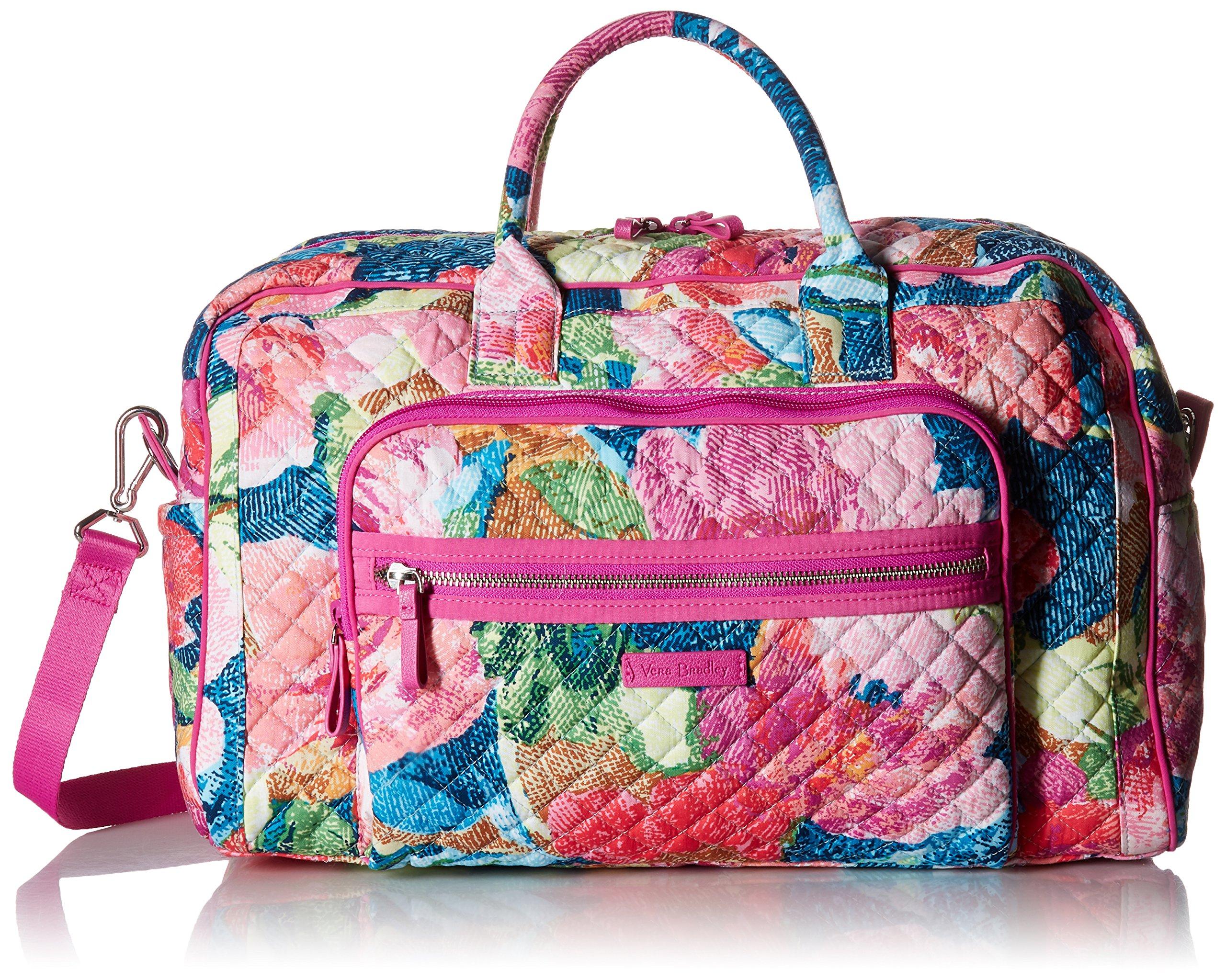 Vera Bradley Iconic Compact Weekender Travel Bag, Signature Cotton, Superbloom