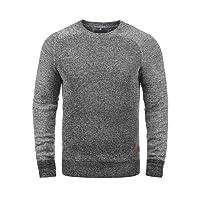 Blend Gandolf Herren Strickpullover Feinstrick Pullover Mit Rundhals Und Melierung Aus 100% Baumwolle