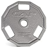 CAP Barbell Olympic 2-Inch 3-Grip Cast Iron Plate, Single