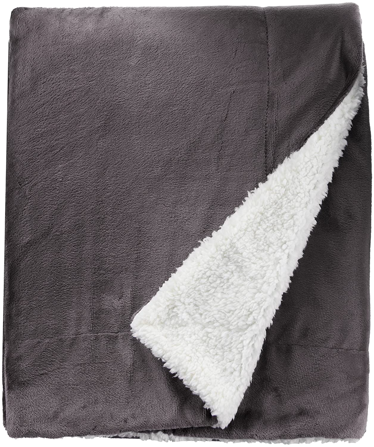 Northpoint Cashmere Velvet Reverse to Cloud Sherpa Throw