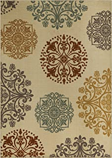 product image for Maples Rugs 7 x 10 Non Slip Large Area Rugs [Made in USA] for Living Room, Bedroom, and Dining Room, Multi
