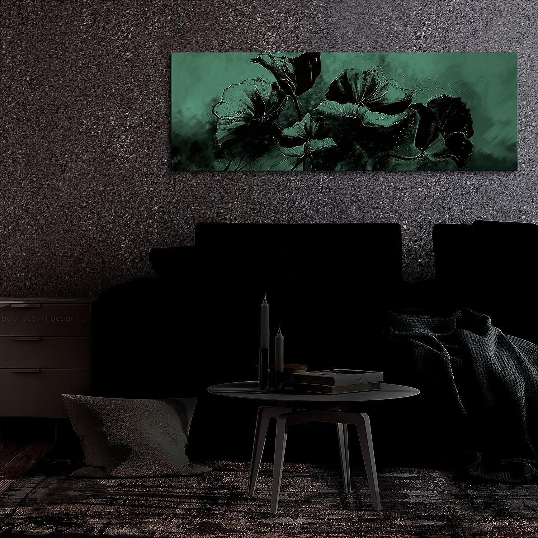 B/&D XXL murando Handart Quadro su Tela 120x40 cm 1 Pezzo Quadri Stampa Pannello Pittura Immagini Moderni Murale Arte Moderna Foto Decorazione da Parete Fiori b-A-0340-b-a