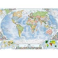 Politische Weltkarte, 140x100 cm, deutsch, matt beschichtet, Stand 2018