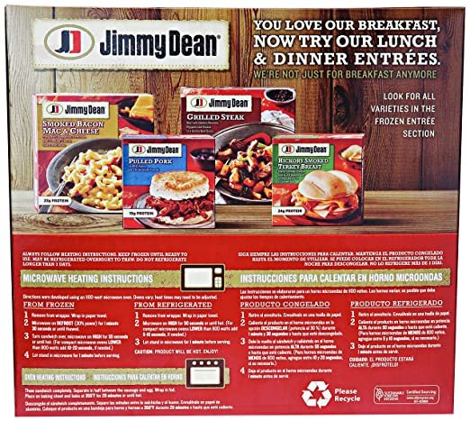 Jimmy Dean, Sausage Egg & Cheese Biscuit Sandwiches, 4 ct (frozen): Amazon.com: Grocery & Gourmet Food